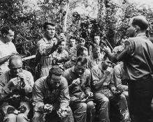 Sixteen astronauts take part in tropic survival training in the Canal Zone, Panama, June 1963, …