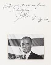 Mercury Astronaut.- John Glenn, 1966, portrait signed above on mount in ink.