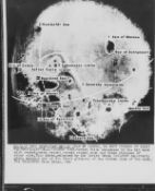 Luna 3.- A U.S. annotated version of the first image of the far side of the Moon, October 1959, …