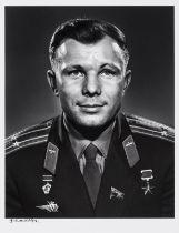 Karsh (Yousuf) Portrait of Yuri Gagarin, c.1965, printed later, vintage gelatin silver print …