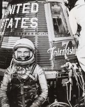 John Glenn undergoes pre-flight tests, 1962, 6 vintage gelatin silver prints, (6).