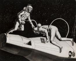 Collection of artists' concept designs, c.1962-64, vintage gelatin silver prints (16)