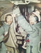 Gemini Astronauts.- Joseph P. Kerwin and Russell L. Schweickart inside the Lunar Excursion Module …