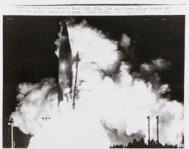 Rockets and Missiles.- A varied group of Rockets and Missiles, c.1957-63, vintage gelatin silver …