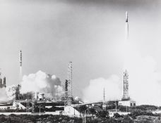 Rockets and Missiles.- A varied group of rockets and missiles, c.1964-66, vintage gelatin silver …