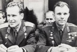Cosmonauts.- Baturin (Vasily M.) Yuri Gagarin, the first man in space, with Gherman Titov, the …