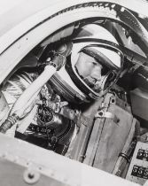 Mercury Astronauts.- Portraits of Walter Schirra and Gordon Cooper, 1962-63, together 4 vintage …