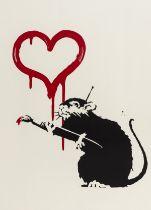 Banksy (b.1974) Love Rat