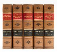 Africa.- Barth (Henry) Travels and Discoveries in North and Central Africa, 5 vol., vols 1-3 …
