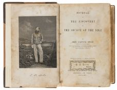 Africa.- Speke (John Hanning) Journal of the Discovery of the Source of the Nile, first edition, …