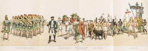 Food & Drink.- Wine.- Album Officiel de la Fête des Vignerons. Vevey 1889, folding colour …