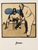 Nicholson (William).- Kipling (Rudyard) An Almanac of Twelve Sports, colour plates by Nicholson, …