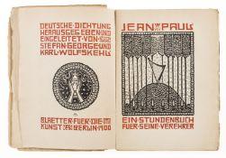 George (Stefan) & Karl Wolfskehl, editors. Deutsche Dichtung, one of 400 copies designed by …