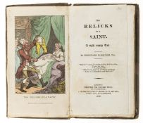 Farquhar (Ferdinand) The Relicks of a Saint, first edition, hand-coloured etched frontispiece by …