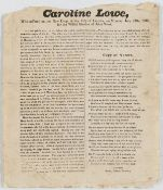 Broadside.- Murder & Execution.- , Caroline Lowe who suffered on the New Drop at the City of …