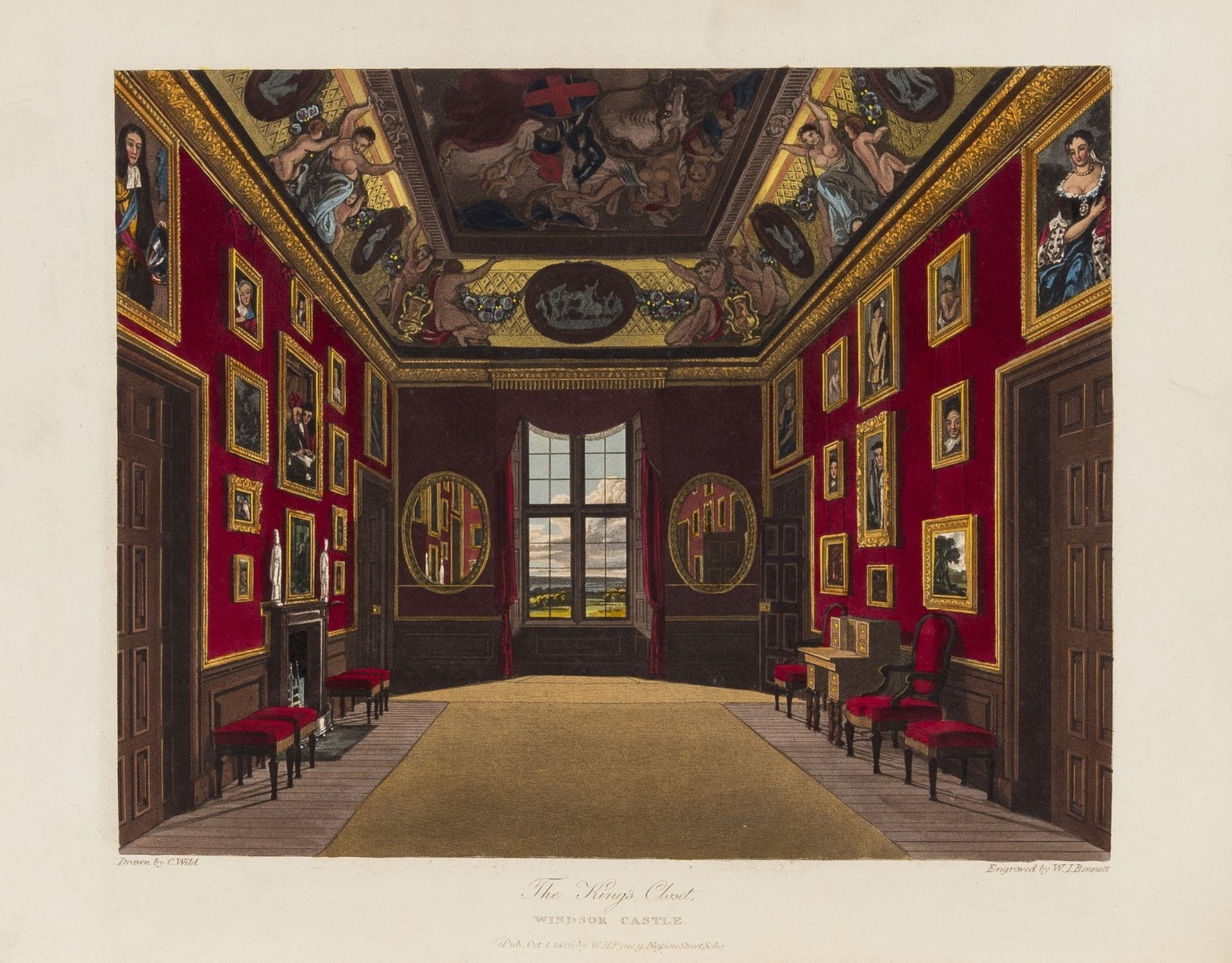 England.- Pyne (William Henry) The History of the Royal Residences..., 3 vol., first edition, … - Image 2 of 3