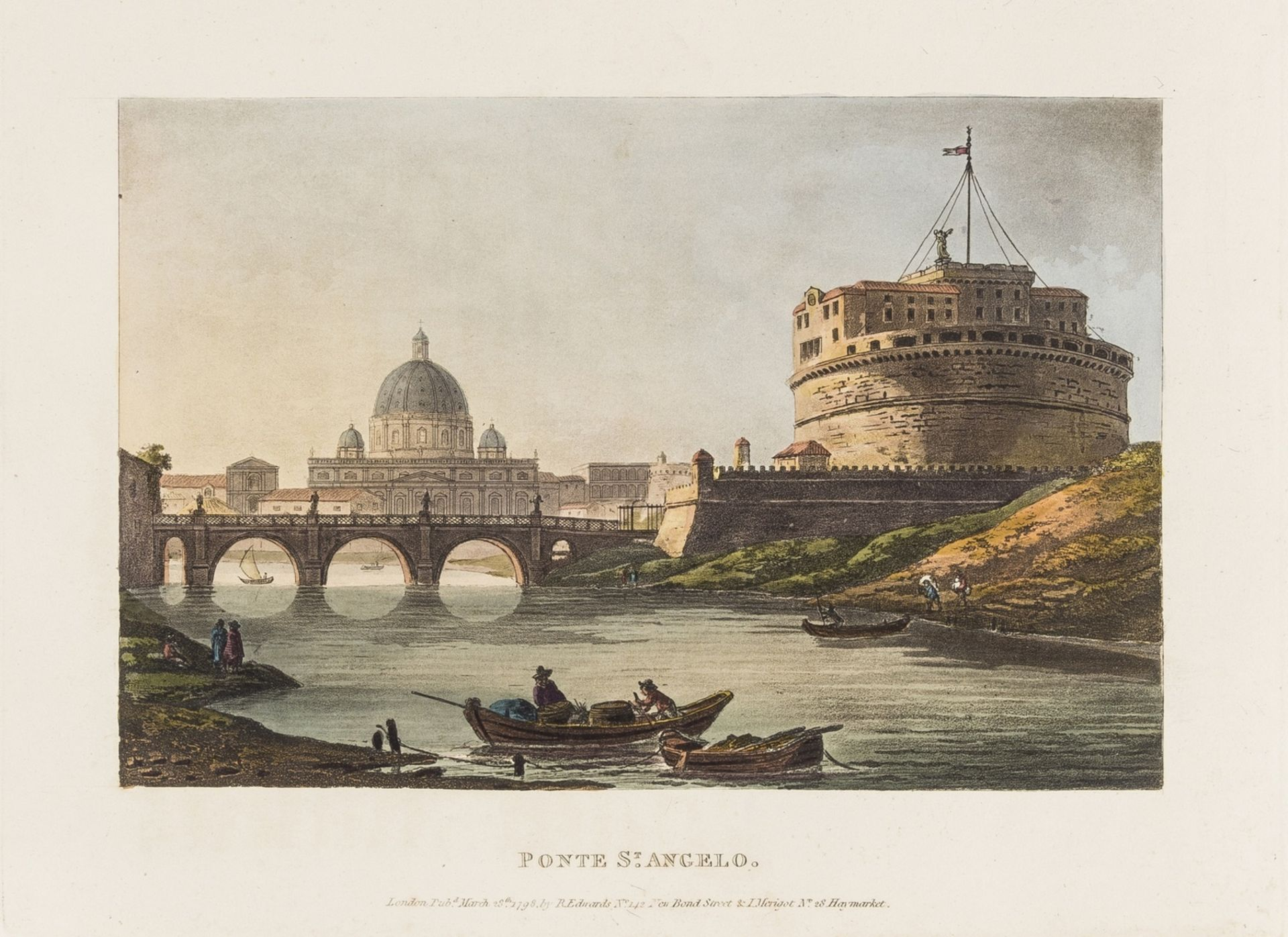 Italy.- [Merigot (James)] A Select Collection of Views and Ruins in Rome and its Vicinity, [c.1819]. - Image 2 of 2