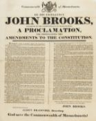 America.- Massachusetts.- Commonwealth of Massachusetts. By His Excellency John Brooks ... A …