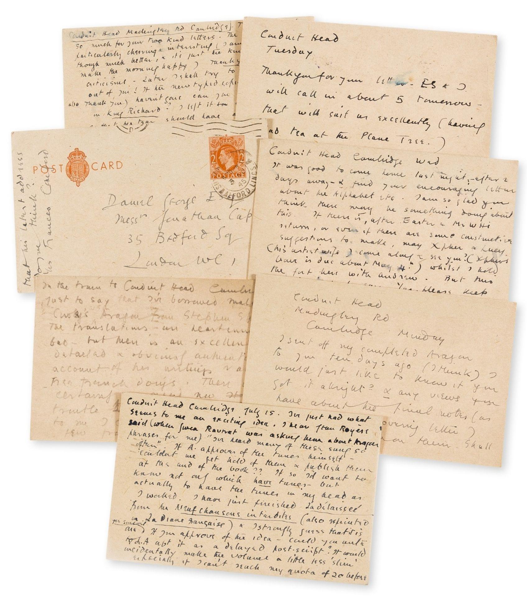 Cornford (Frances Crofts, poet, 1886-1960) 22 Autograph Letters signed and 7 autograph postcards …