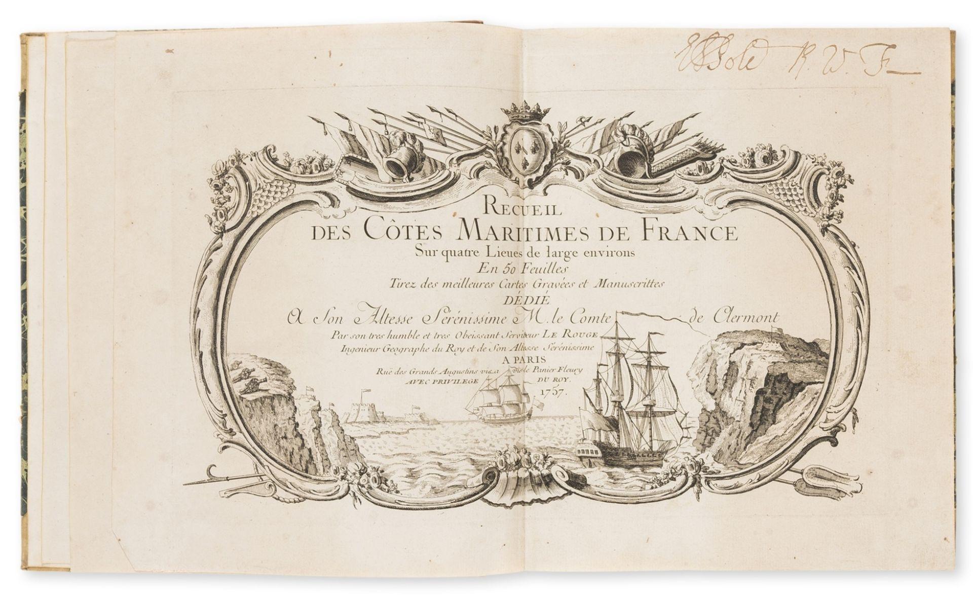 France.- Le Rouge (George Louis) Recueil des Cotes Maritimes de France, first edition,, Paris, 1757.