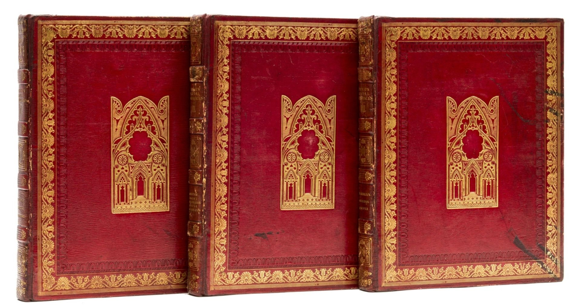England.- Pyne (William Henry) The History of the Royal Residences..., 3 vol., first edition, …