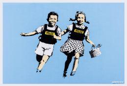 Banksy (b.1974) Jack and Jill (Police Kids) (Signed)