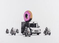 Banksy (b.1974) Donuts (Strawberry) (Signed)