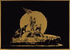 Banksy (b.1974) Gold Flag Ghetto Crew AP (Signed)