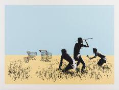 Banksy (b.1974) Trolleys (Colour) (Signed)