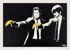 Banksy (b.1974) Pulp Fiction (Signed)
