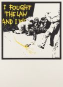 Banksy (b.1974) I Fought The Law (Colour AP) (Signed)