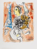 Marc Chagall (1887-1985) Offrande à la Tour Eiffel (Mourlot 416)