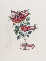 Salvador Dalí (1904-1989) Rosa et Morte Floriscens (Field 72-7-L)