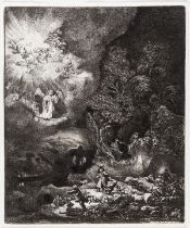 Rembrandt van Rijn (1606-1669) The Angel Appearing to the Shepherds