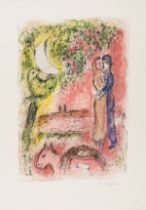 Marc Chagall (1887-1985) Aurore à Saint Paul (Mourlot 548)