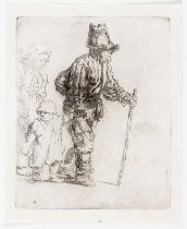 Rembrandt van Rijn (1606-1669) Peasant Family on the Tramp