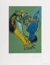 Marc Chagall (1887-1985) after. Wood-engraving printed in colours