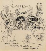 Jean Cocteau (1889-1963) Willy Polaire, Toby Chien et Colette au Palais de Glace