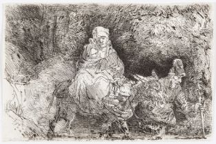 Rembrandt van Rijn (1606-1669) The Flight into Egypt: Crossing a Brook