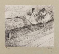 Edgar Degas (1834-1917) after by George-William Thornley A La Barre