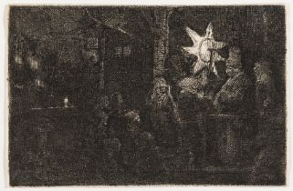 Rembrandt van Rijn (1606-1669) The Star of the Kings: A Night Piece