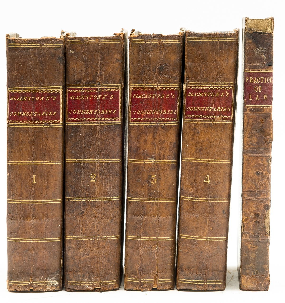 Blackstone (Sir William) Commentaries on the Laws of England, in Four Books, 4 vol., twelfth …