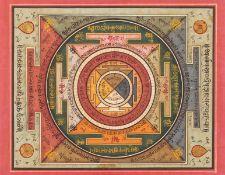 Eastern ms..- Jain cosmological chart, Gujarat, [19th century].