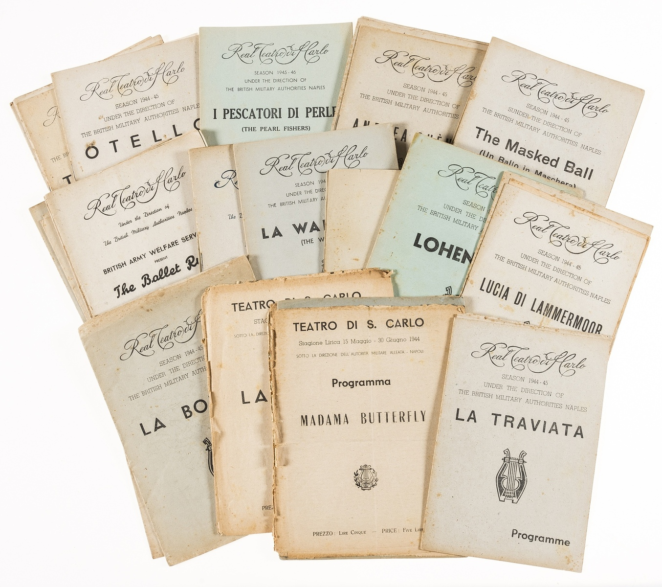 Opera and ballet.- A collection of c.35 ballet and opera programmes for the Real Teatro di Carlo, …