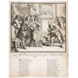 Satirical broadside.- Protestant persecution.- Hooghe (Romeyn de) La belle Constance dragonée par …