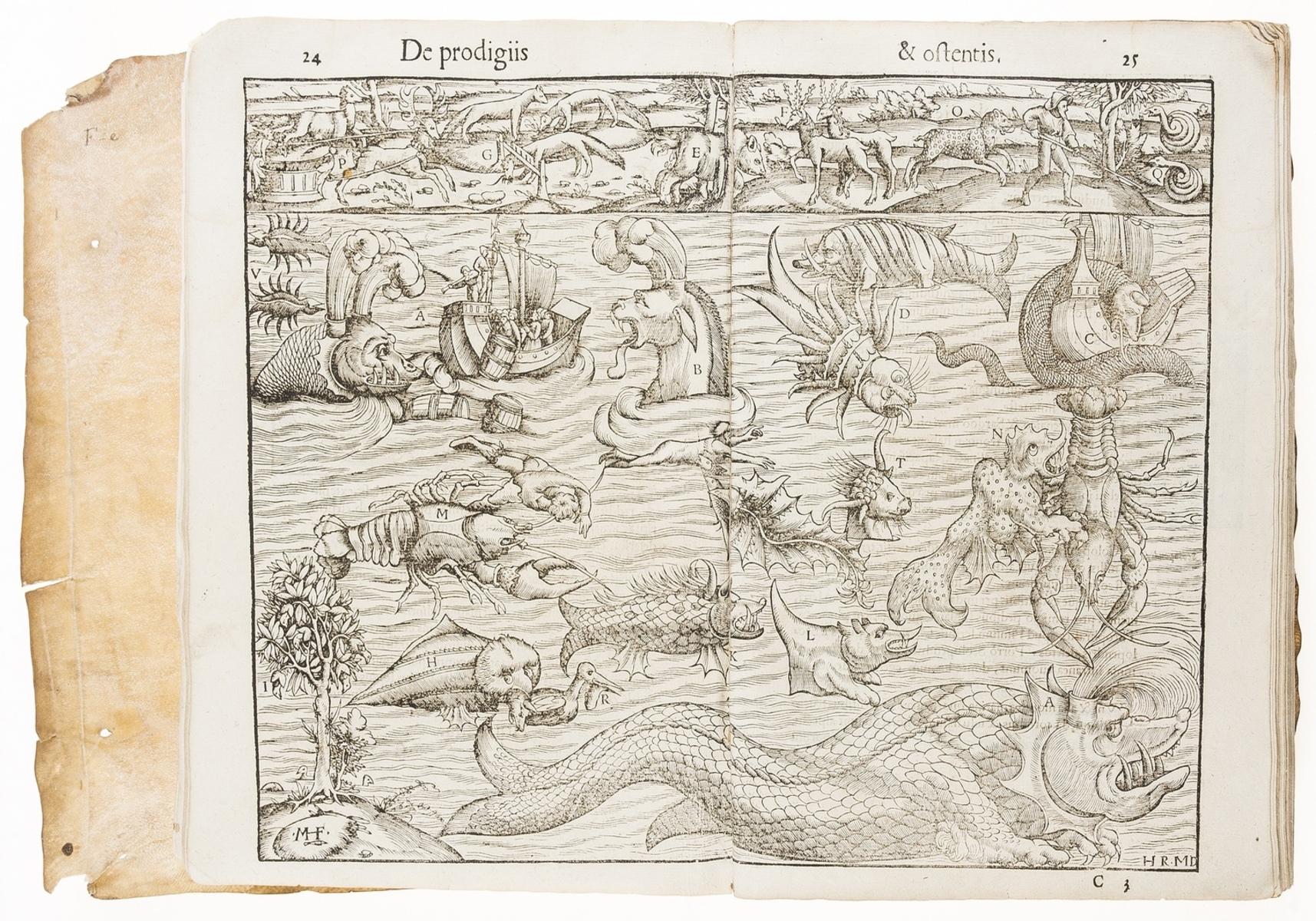 "Monsters, prodigies and portents.- [Wolffhart (Conrad)], ""Lycosthenes"". Prodigiorum ac ostentorum …"