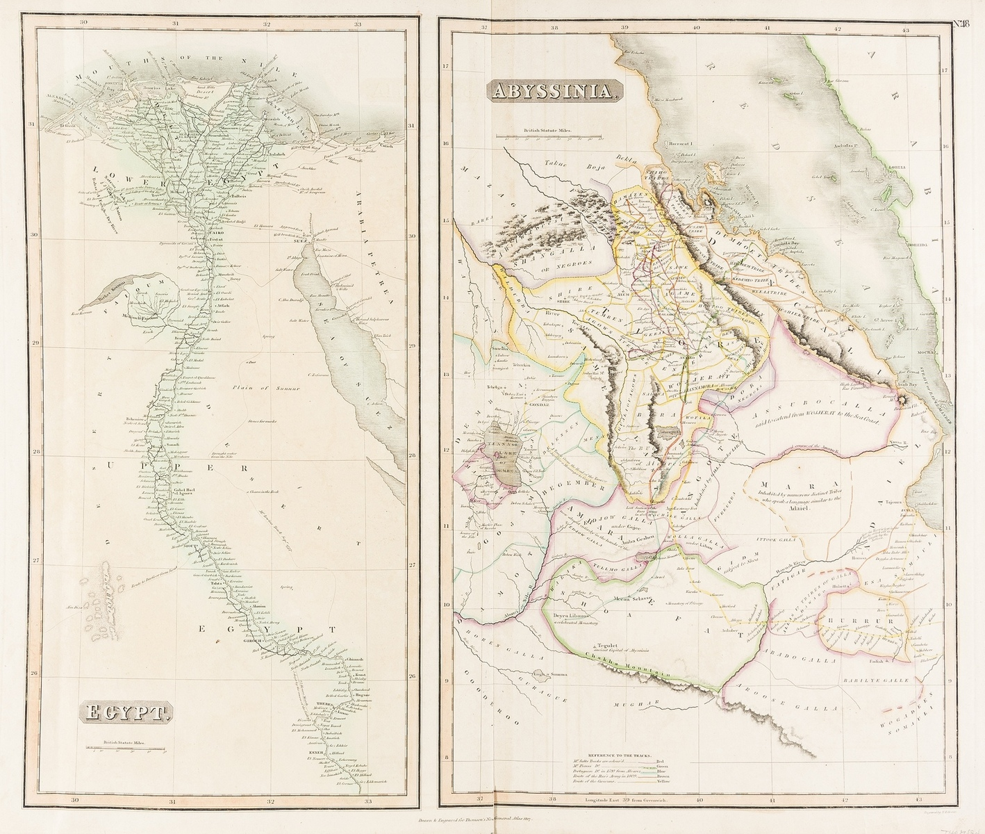 Asia and Middle East.- Thompson (John) Egypt. Abyssinia, 1817; together with 3 others, 18th …