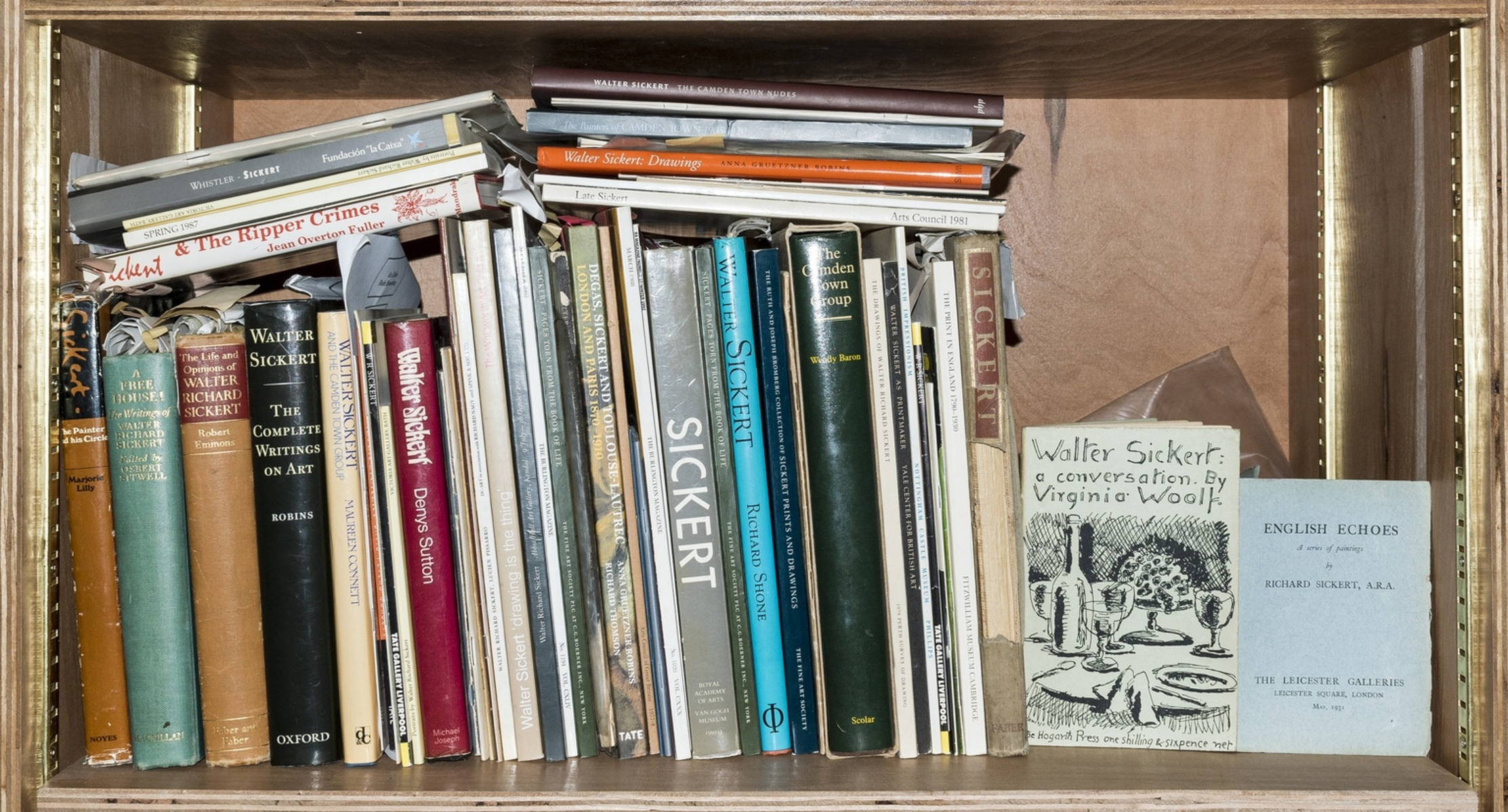 Sickert (Walter).- Woolf (Virginia) Walter Sickert: a Conversation, first edition, original …