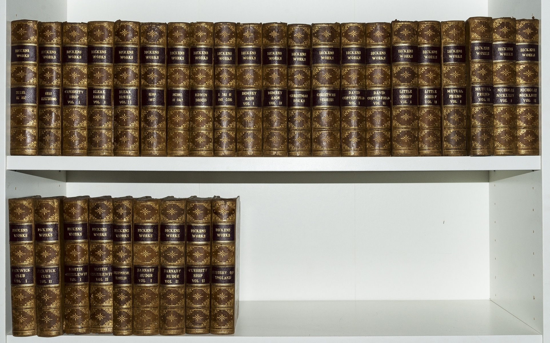 Dickens (Charles) Works..., 30 vol., library edition, [c.1875].