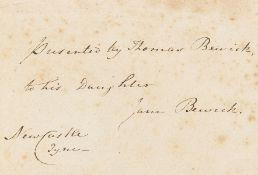 Bewick (Thomas) A History of British Birds, 2 vol., presentation copy to his daughter Jane, …